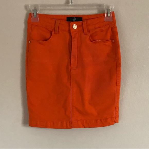bea918c600 Missguided Skirts | Orange Denim Stretch Mini Skirt | Poshmark